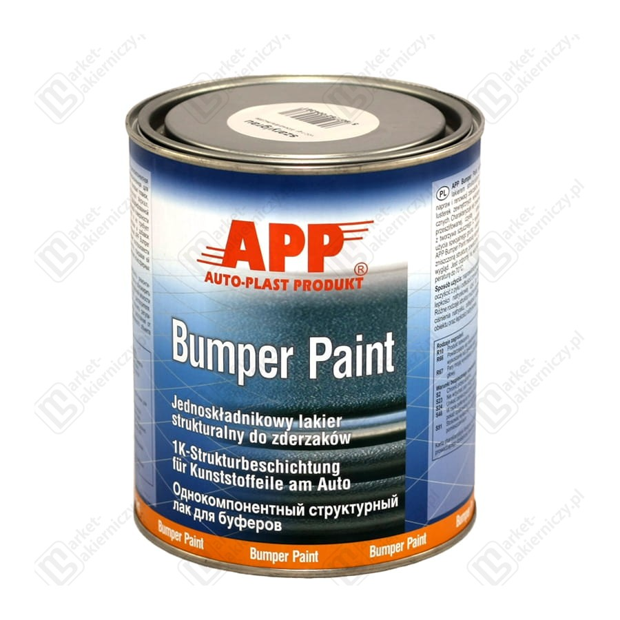 app bumper paint one component structural topcoat for bumpers 1l. Black Bedroom Furniture Sets. Home Design Ideas